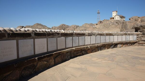 Shark Island, Lüderitz, Namibia. Formerly an island, it is now a peninsula. It was the home of the Shark Island Concentration Camp between 1905 and April 1907, as part of the Herero and Namaqua genocide of 1904–1908. - Sputnik International