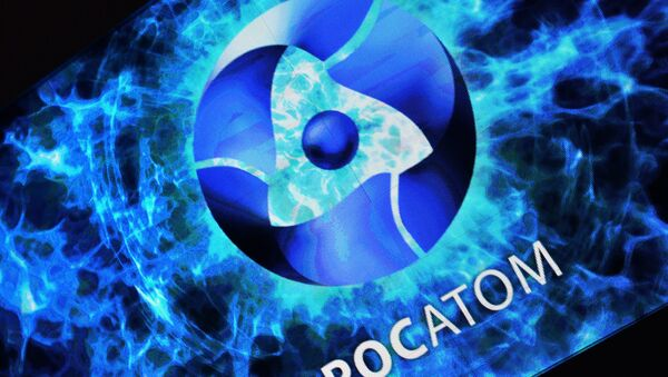 ROSATOM corporation's stand on display at the exhibition Russia Looking Into the Future at the central exhibition hall Manege, Moscow - Sputnik International