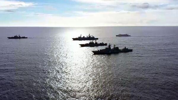 Russian Pacific Fleet engaged in long-range drills. June 2021. - Sputnik International