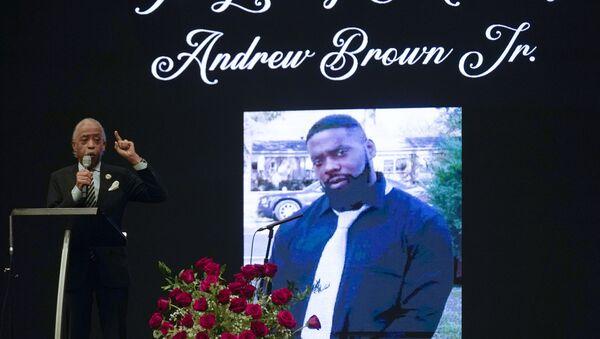Rev. Al Sharpton speaks during the funeral for Andrew Brown Jr., Monday, May 3, 2021 at Fountain of Life Church in Elizabeth City, N.C. Brown was fatally shot by Pasquotank County Sheriff deputies trying to serve a search warrant. - Sputnik International