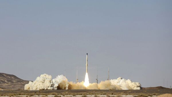 This picture released by the official website of the Iranian Defense Ministry on Monday, Feb. 1, 2021, shows the launch of Iran's newest satellite-carrier rocket, called Zuljanah, at an undisclosed location, Iran. - Sputnik International