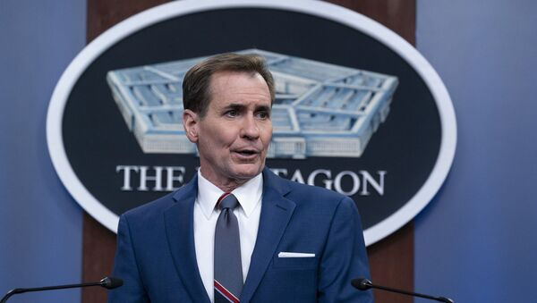 Pentagon spokesman John Kirby speaks during a media briefing at the Pentagon, Friday, June 4, 2021, in Washington.  - Sputnik International