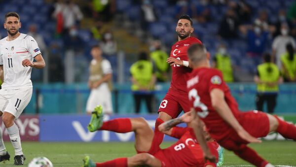 Turkey's Umut Meras looks on at Merih Demiral scores an own goal - Sputnik International