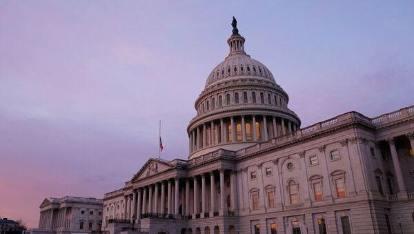 The U.S. Capitol is seen at sunrise.  Washington, U.S. January 11, 2021. - Sputnik International