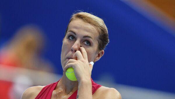 Anastasia Pavlyuchenkova (Russia) in the women's singles final match at the VTB Kremlin Cup against Belinda Benchich (Switzerland). - Sputnik International