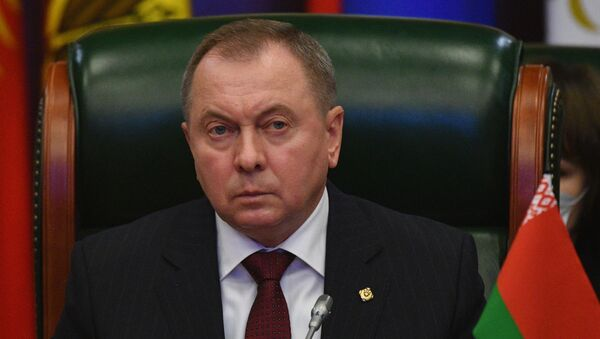 Foreign Minister of Belarus Vladimir Makei is taking part in a meeting of the Council of Foreign Ministers of the Commonwealth of Independent States in a wide format. - Sputnik International