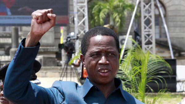 Edgar Lungu, the President of Zambia, gestures while attending the inauguration of Filipe Nyusi, the President of Mozambique, at the Independence Square in Maputo, on January 15, 2020.  - Sputnik International
