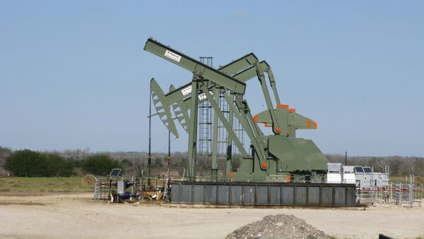 A pump jack used to help lift crude oil from a well in South Texas - Sputnik International