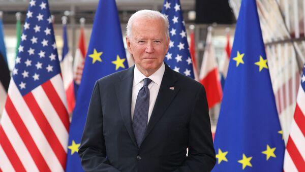 US President Joe Biden arrives for an EU - US summit at the European Union headquarters in Brussels on June 15, 2021.  - Sputnik International