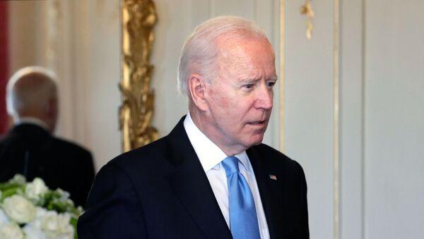 June 16, 2021. US President Joe Biden before the start of Russian-American talks in the extended format at the Villa La Grange in Geneva - Sputnik International