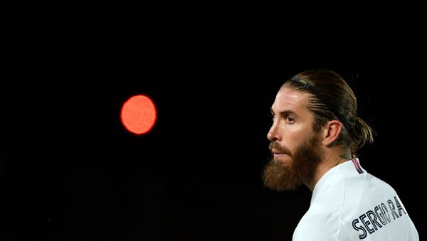 Real Madrid's Spanish defender Sergio Ramos looks on during the UEFA Champions League round of 16 second leg football match between Real Madrid CF and Atalanta at the Alfredo di Stefano stadium in Valdebebas, on the outskirts of Madrid on March 15, 2021 - Sputnik International