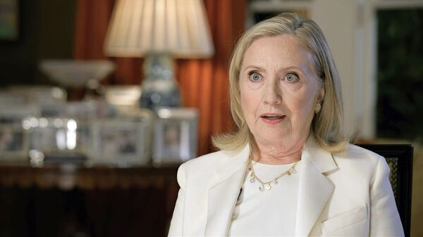 In this image from video, former Secretary of State Hillary Clinton speaks during the third night of the Democratic National Convention on Wednesday, Aug. 19, 2020 - Sputnik International