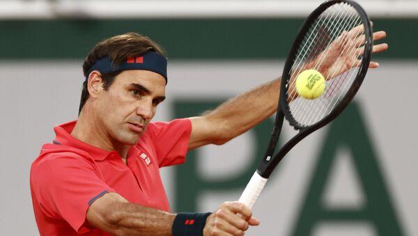 Switzerland's Roger Federer in action during his third round match against Germany's Dominik Koepfer  - Sputnik International