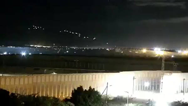 Screenshot from a video allegedly showing heavy weapon fire from Gaza that could have led to the activation of rocket sirens in Israel - Sputnik International