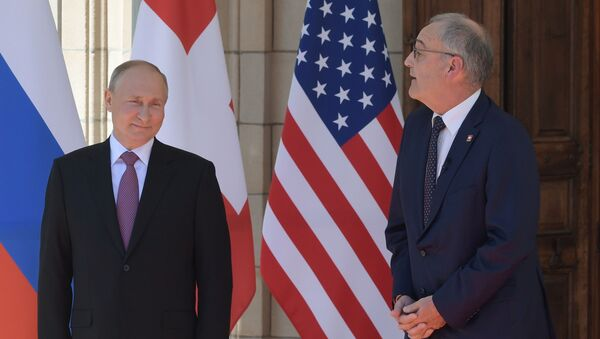 Russian President Vladimir Putin and US President Joe Biden Meet in Geneva  - Sputnik International