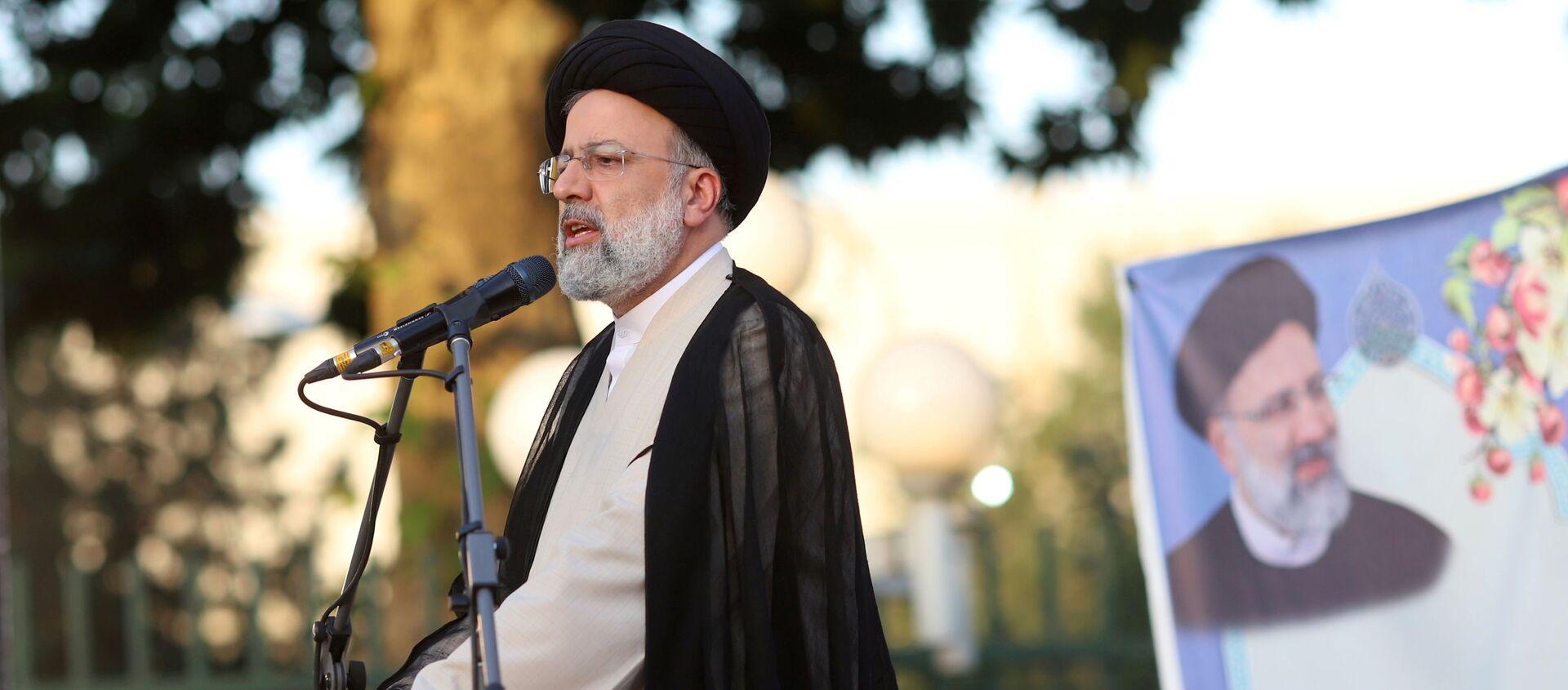 Presidential candidate Ebrahim Raisi speaks during a campaign rally in Tehran, Iran June 15, 2021. Majid Asgaripour/WANA (West Asia News Agency) via REUTERS  - Sputnik International, 1920, 19.06.2021