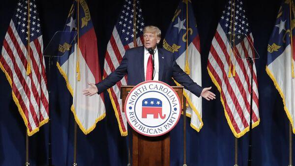 Former President Donald Trump speaks at the North Carolina Republican Convention Saturday, June 5, 2021, in Greenville, N.C.  - Sputnik International