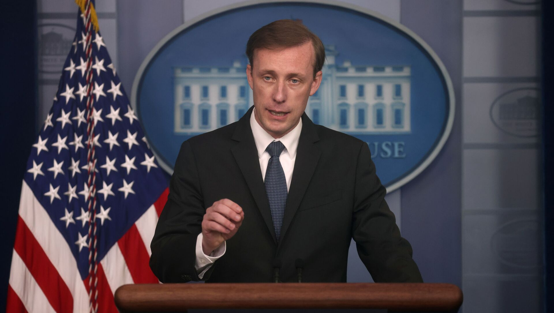 White House National Security Adviser Jake Sullivan takes questions during a press briefing at the White House in Washington, U.S., June 7, 2021. - Sputnik International, 1920, 01.08.2021