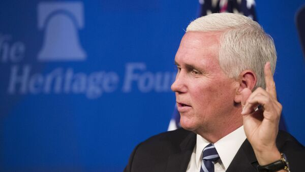 Vice President Mike Pence speaks about the US-Mexico-Canada trade agreement at the Heritage Foundation, Tuesday, 17 September 2019, in Washington. - Sputnik International