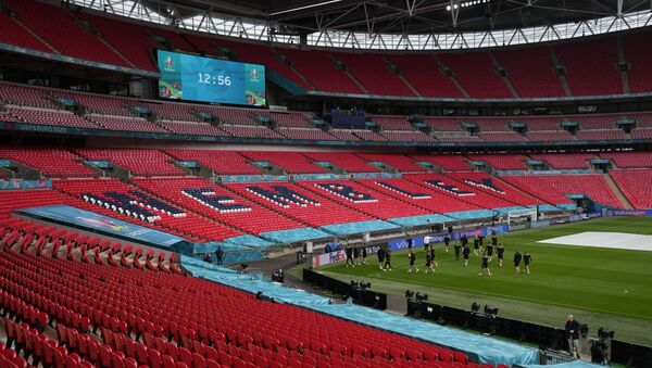 The Czech Republic squad take part in a team training session at Wembley stadium in London, Monday, June 21, 2021, the day before the Euro 2020 soccer championship group D match between England and Czech Republic. - Sputnik International
