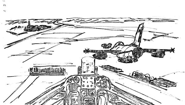 A sketch of the flight path toward the Osirak nuclear facility in Iraq, from an Israeli intelligence file, released on June 22, 2021 - Sputnik International