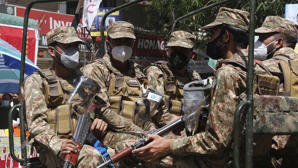 Pakistan army troops  in Lahore, Pakistan  (File) - Sputnik International