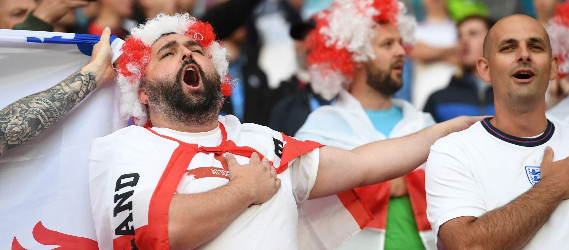 Soccer Football - Euro 2020 - Group D - Czech Republic v England - Wembley Stadium, London, Britain - 22 June 2021 England fans in the stands before the match  - Sputnik International, 1920, 23.06.2021