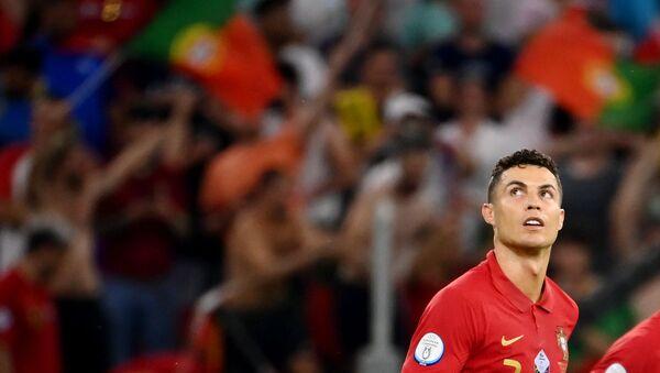 Portugal's Cristiano Ronaldo celebrates scoring their first goal - Sputnik International