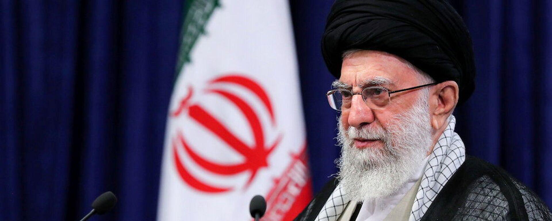 Iran's Supreme Leader Ayatollah Ali Khamenei delivers a televised speech in Tehran, Iran, 4 June 2021.  - Sputnik International, 1920, 28.07.2021