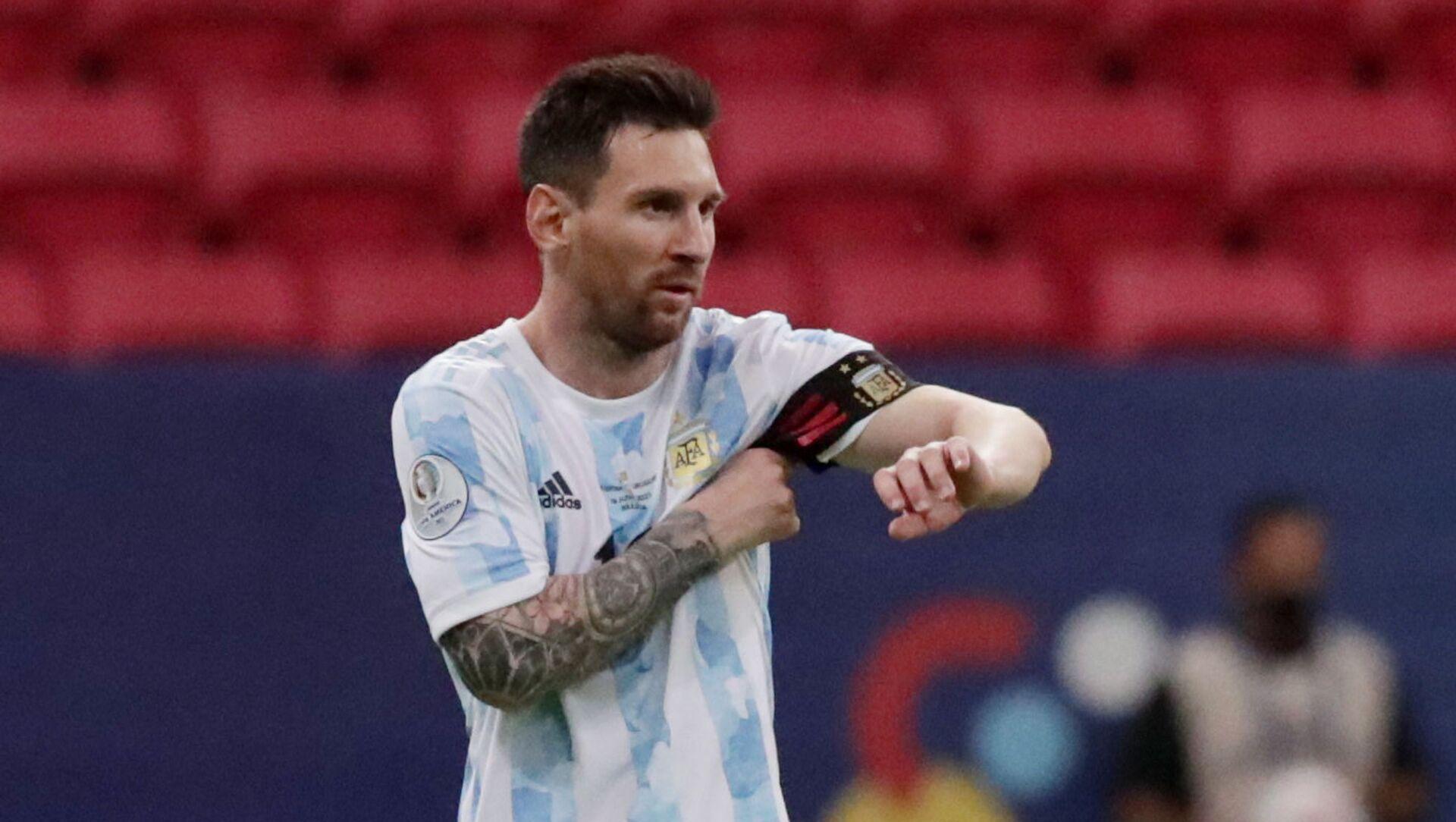 Soccer Football - Copa America 2021 - Group A - Argentina v Uruguay - Estadio Mane Garrincha, Brasilia, Brazil - June 18, 2021 Argentina's Lionel Messi - Sputnik International, 1920, 23.07.2021
