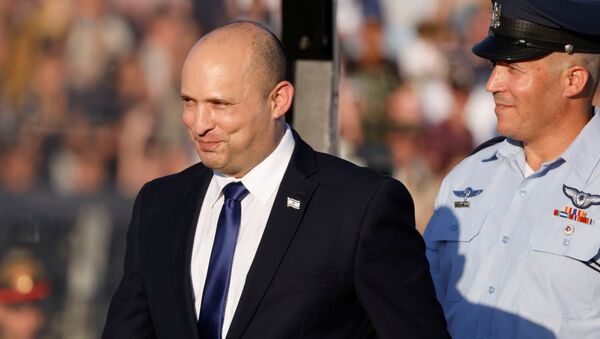 Israeli Prime Minister Naftali Bennett attends the Israeli Air Force pilots' graduation ceremony at Hatzerim air base in southern Israel June 24, 2021 - Sputnik International