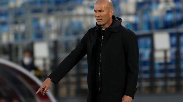 May 9, 2021 Real Madrid coach Zinedine Zidane during the match  - Sputnik International