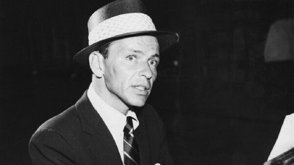 Photo of Frank Sinatra in the role of the Stage Manager for a television production of ''Our Town'' in 1955, which was presented on ''Producers' Showcase''. - Sputnik International
