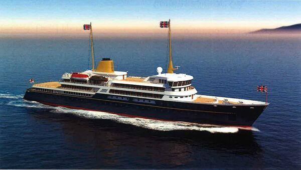An artist's impression of the proposed new UK royal yacht - Sputnik International