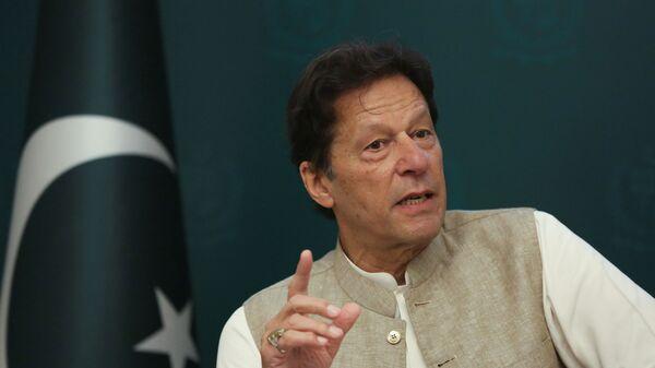 Pakistan's Prime Minister Imran Khan speaks during an interview with Reuters in Islamabad, Pakistan June 4, 2021 - Sputnik International