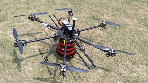 Indigenous Drone Equipped with Multipurpose Air-Drop System, Developed by Indian Scientist Milind Raj. - Sputnik International