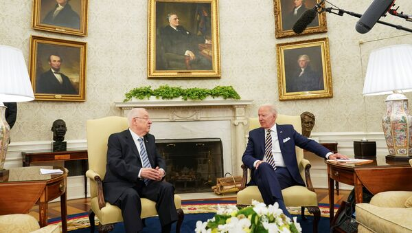 U.S. President Joe Biden meets with Israel's President Reuven Rivlin at the White House in Washington, U.S. June 28, 2021 - Sputnik International