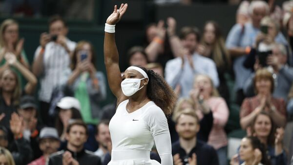 Tennis - Wimbledon - All England Lawn Tennis and Croquet Club, London, Britain - June 29, 2021 Serena Williams of the U.S. leaves court as she retires from her first round match against Belarus' Aliaksandra Sasnovich after sustaining an injury - Sputnik International