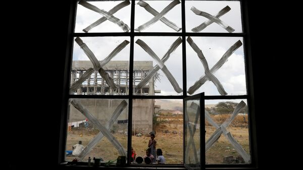 Displaced people are seen at the Shire campus of Aksum University, which was turned into a temporary shelter for people displaced by conflict, in the town of Shire, Tigray region, Ethiopia, March 15, 2021 - Sputnik International