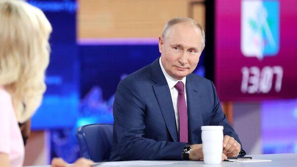 Russia Putin Direct Line - Sputnik International