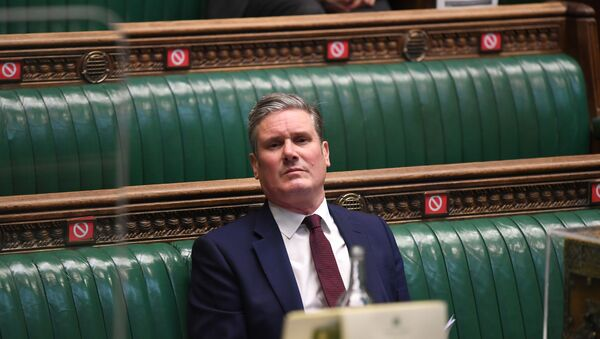 Britain's Labour Party leader, Keir Starmer attends a session in Parliament, in London - Sputnik International