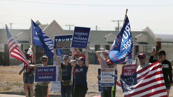 U.S. Vice President Harris visits El Paso, Texas - Sputnik International