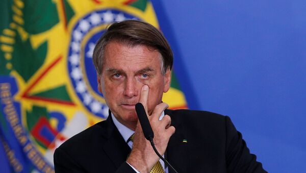 Brazil's President Jair Bolsonaro gestures during a ceremony at the Planalto Palace in Brasilia, Brazil, June 29, 2021 - Sputnik International