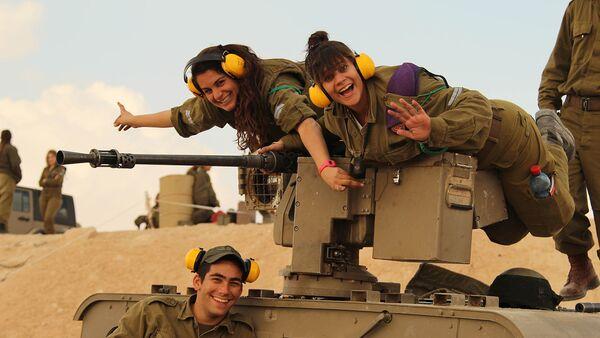 Israel Defense Forces - Female Tank Instructors Conduct Drill - Sputnik International