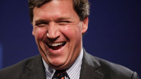 WASHINGTON, DC - MARCH 29: Fox News host Tucker Carlson discusses 'Populism and the Right' during the National Review Institute's Ideas Summit at the Mandarin Oriental Hotel March 29, 2019 in Washington, DC. Carlson talked about a large variety of topics including dropping testosterone levels, increasing rates of suicide, unemployment, drug addiction and social hierarchy at the summit, which had the theme 'The Case for the American Experiment.'  - Sputnik International