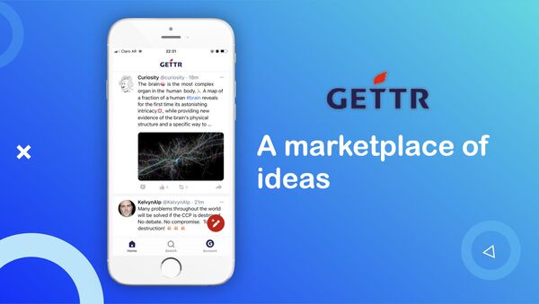 Gettr website. - Sputnik International