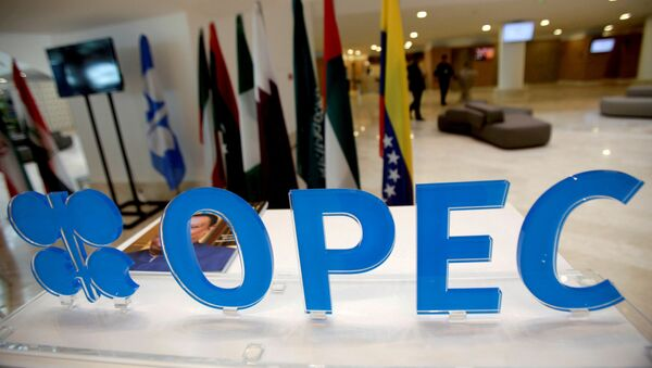 The OPEC logo pictured ahead of an informal meeting between members of the Organization of the Petroleum Exporting Countries (OPEC) in Algiers, Algeria, September 28, 2016. - Sputnik International