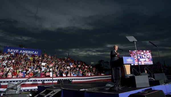 Former President Donald Trump speaks during a rally at the Sarasota Fairgrounds Saturday, July 3, 2021, in Sarasota, Fla.  - Sputnik International