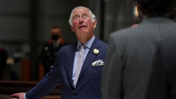 Britain's Prince Charles looks up during  his visit to the Lloyd's of London, an insurance and reinsurance marketplace, in London, Britain June 24, 2021 - Sputnik International