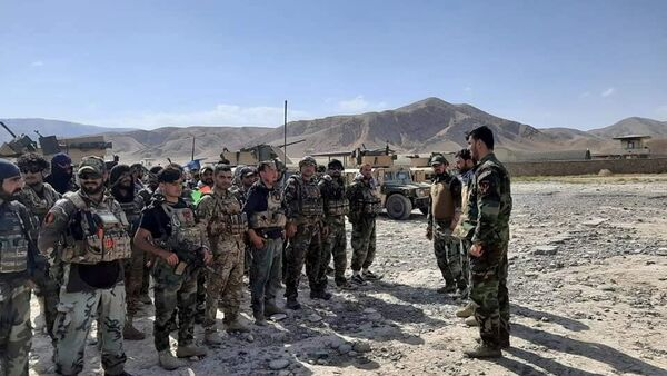 FILE PHOTO: Afghan Commandos arrive to reinforce the security forces in Faizabad the capital of Badakhshan province, after Taliban captured neighbourhood districts of Badakhshan in recently. July 4, 2021. picture taken July 4, 2021. Afghanistan - Sputnik International